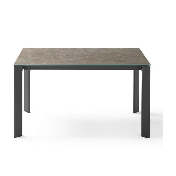 Hnědo-černý rozkládací jídelní stůl sømcasa Lisa, délka 140/200 cm
