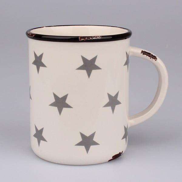 Bílý keramický maxi hrnek s hvězdami Dakls, objem 750ml