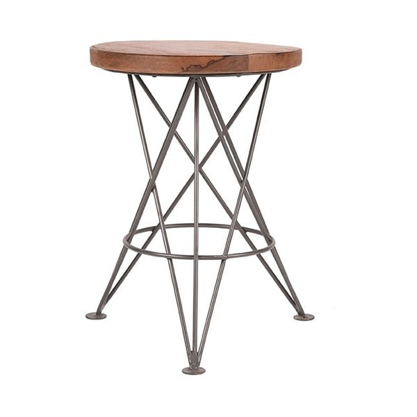 Barová stolička z mangového dreva LABEL51 Paris