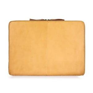 """Žlutý kožený obal na notebook 15"""" O My Bag Zipper"""