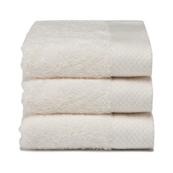 Set 3 ručníků Pure Cream, 30x50 cm