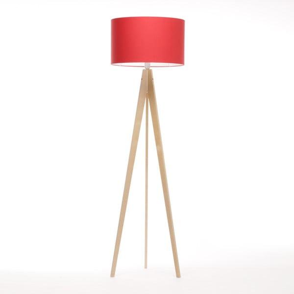 Červená stojací lampa Artist, bříza, 150 cm