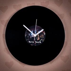 Vinylové hodiny New York