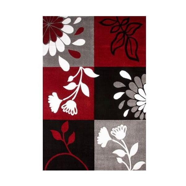 Koberec Black Red Floral, 160x230 cm