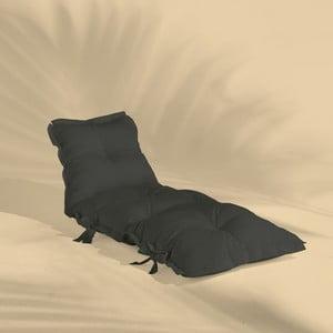 Tmavě šedý variabilní futon vhodný do exteriéru Karup OUT™ Sit&Sleep
