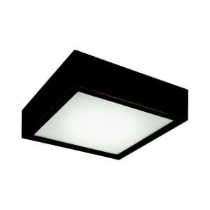 Černé čtvercové stropní svídidlo Lamkur Plafond, 27,5x27,5 cm