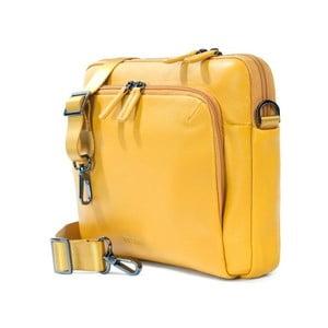 Žlutá taška na rameno z italské kůže Tucano One Messanger