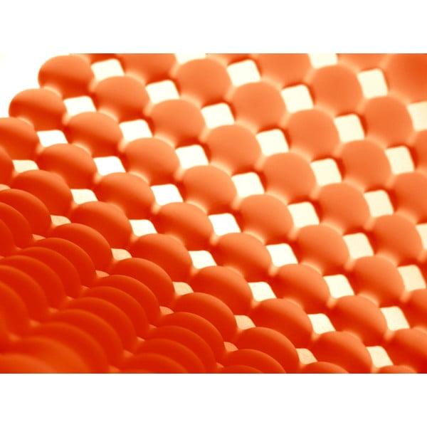 Protiskluzová koupelnová podložka Le Bolle, oranžová