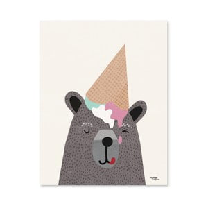 Poster Michelle Carlslund I Love Icecream, 30 x 40 cm