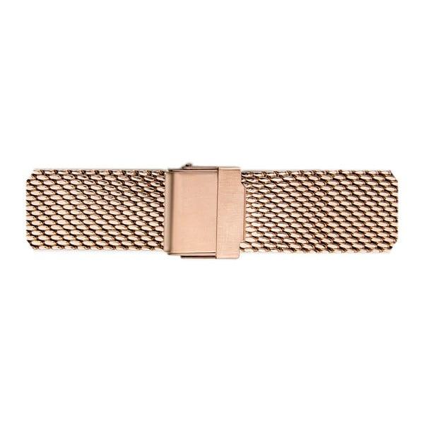 Dámské hodinky z nerezové oceli v růžovozlaté barvě s výměnným páskem z pravé kůže Frederic Graff Karmia