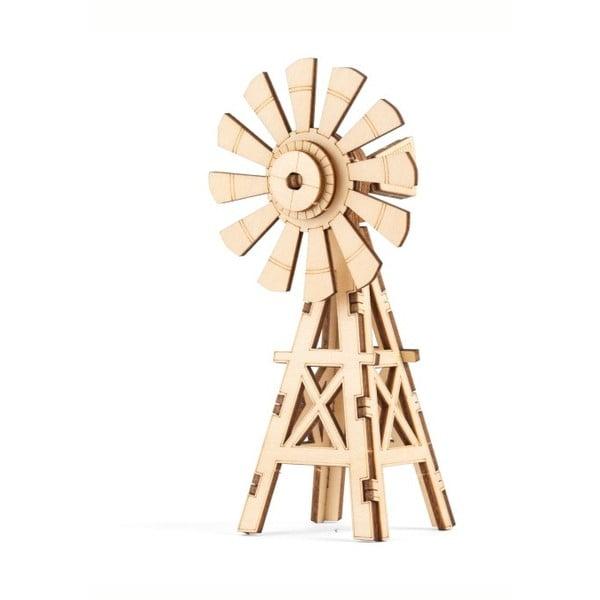 3D dřevěné puzzle s motivem mlýnu Kikkerland Windmill