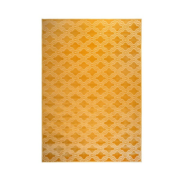 Žlutý koberec White Label Feike, 160x230cm