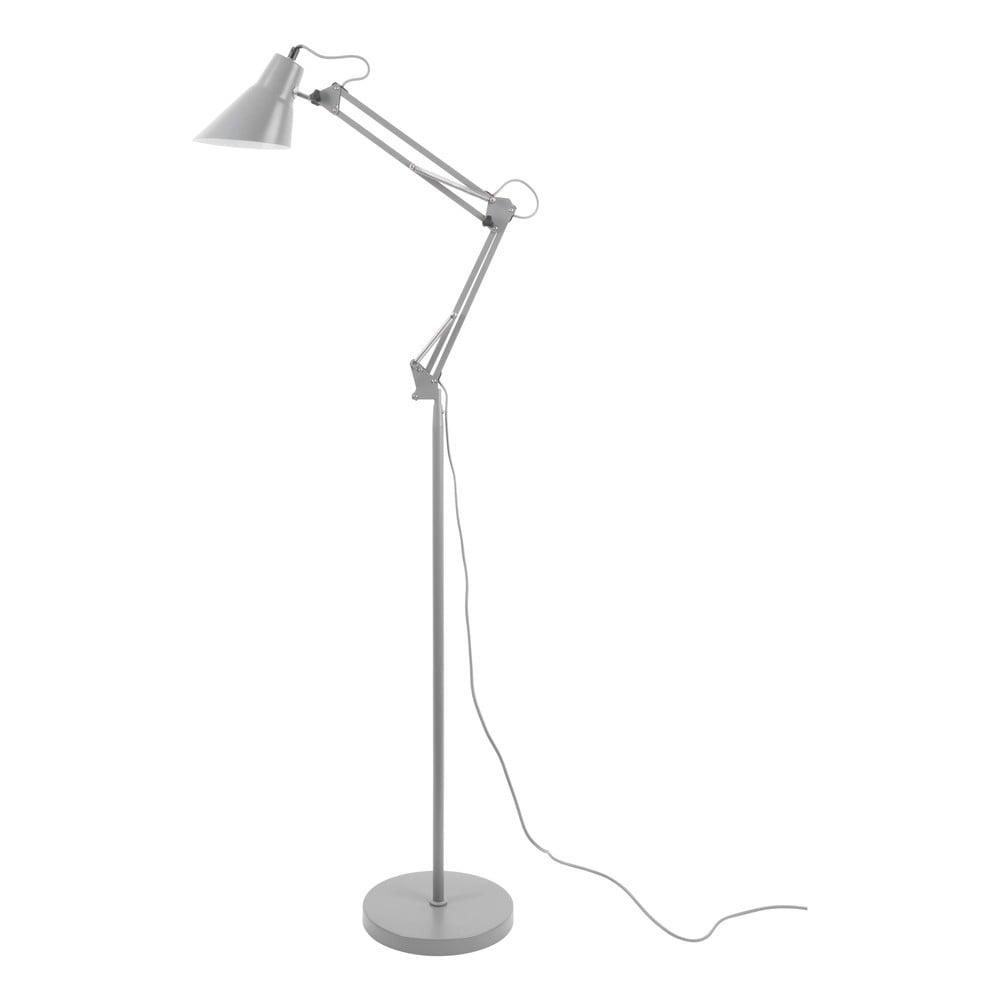 Šedá železná stojací lampa Leitmotiv Fit