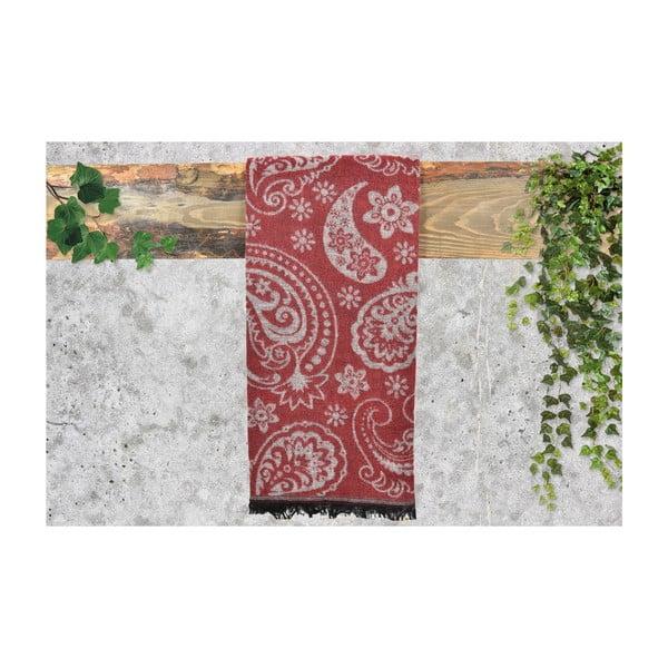 Červený dámský šál s příměsí bavlny Dolce Bonita Otantic, 170 x 90 cm
