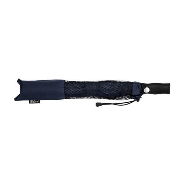 Modrý skládací deštník Minimalistic, ⌀123cm