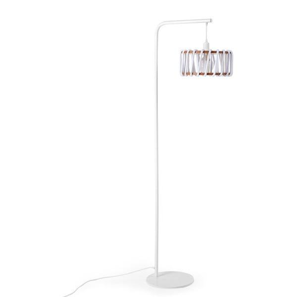 Macaron állólámpa fehér konstrukcióval és kis fehér lámpabúrával - EMKO