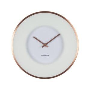 Bílé hodiny Present Time Illusion