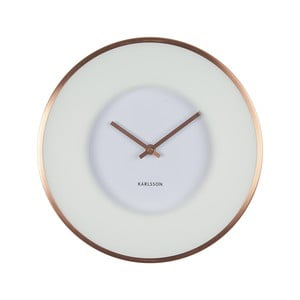 Bílé hodiny Karlsson Illusion