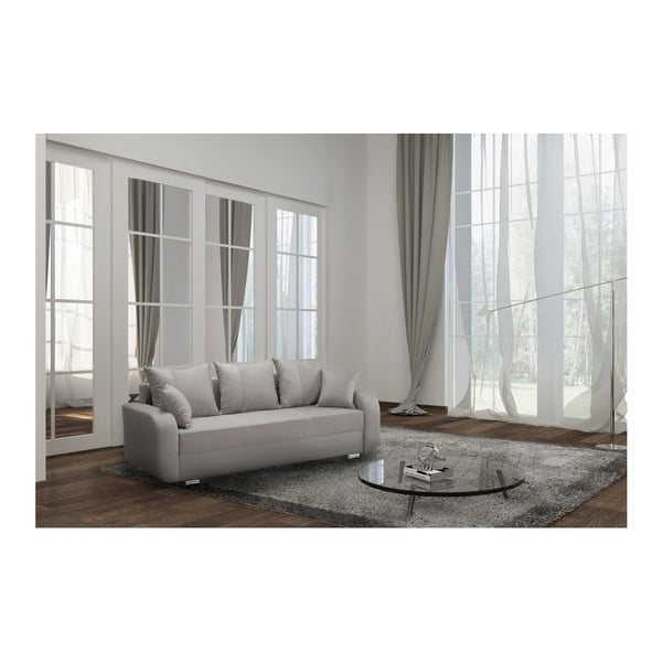 Canapea cu 3 locuri INTERIEUR DE FAMILLE PARIS Destin, bej - gri