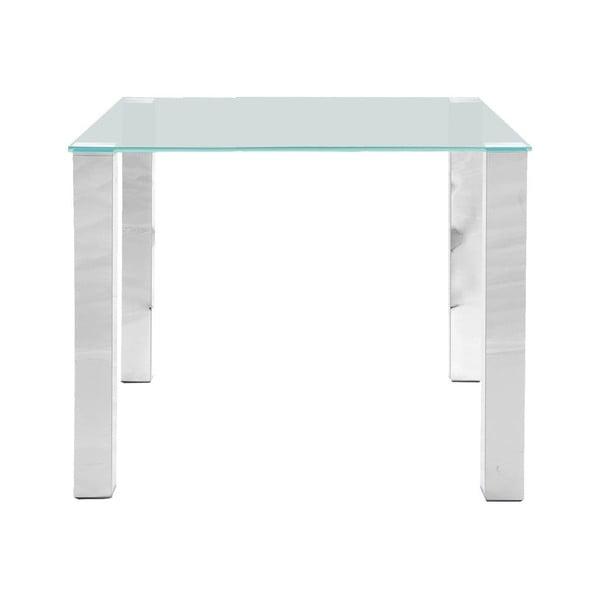Jedálenský stôl so sklenenou doskou Actona Kante, 90×75 cm