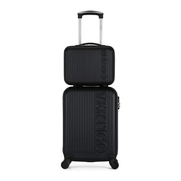 Sada černého cestovního kufru na kolečkách a menšího kufříku VERTIGO Valises Cabine & Vanity Case
