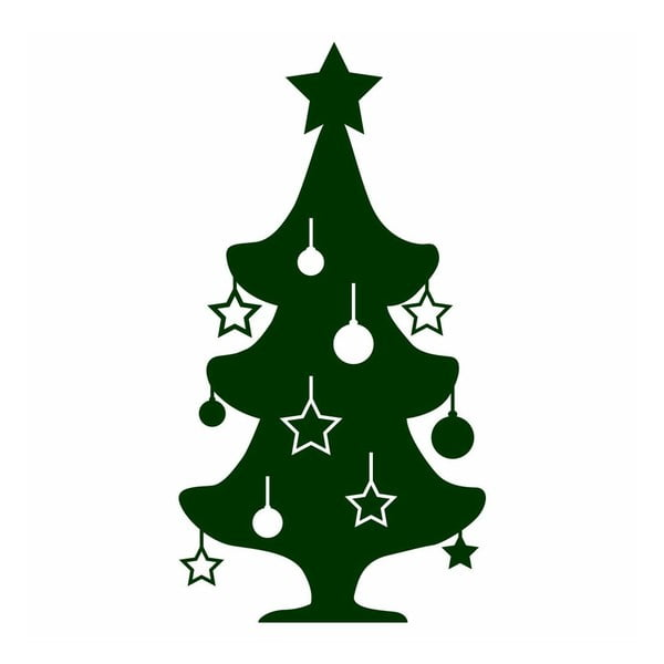 Samolepka Little Green Christmas Tree