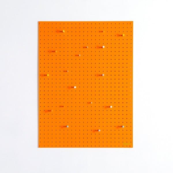 Multifunkční nástěnka Pegboard 61x81 cm, oranžová