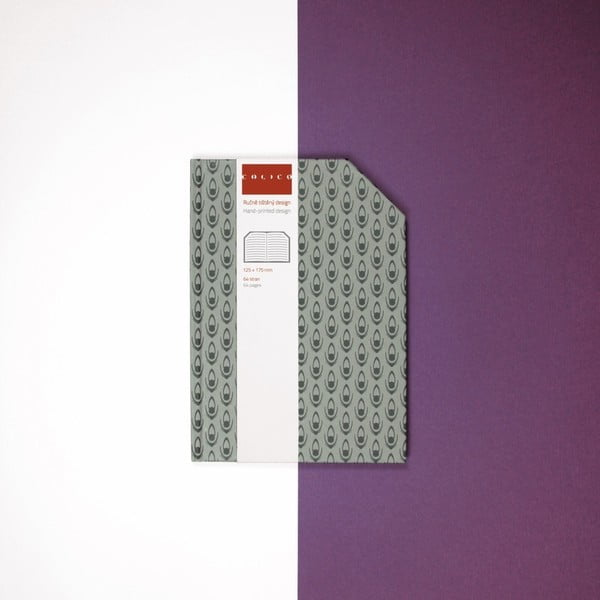 Ručně šitý linkovaný zápisník Calico Trence