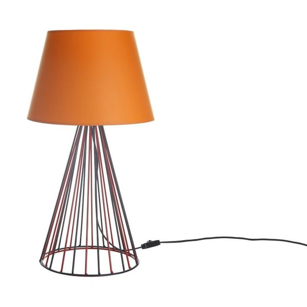 Stolní lampa Wiry Orange/Red/Black