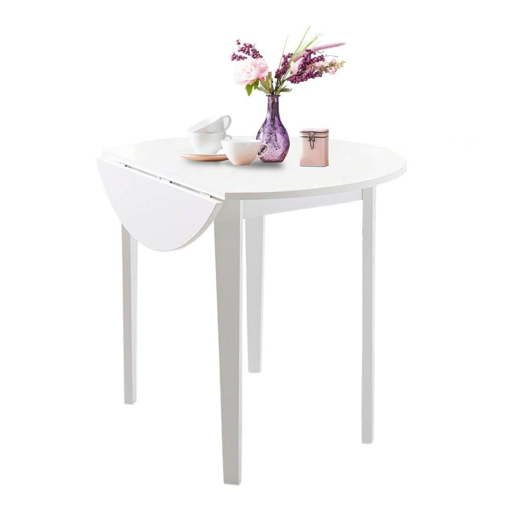 Bílý skládací jídelní stůl Støraa Trento Quer, ⌀ 92 cm