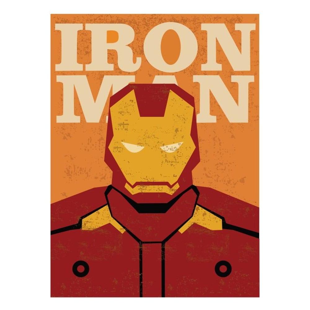 Plakát Blue-Shaker Super Heroes Iron Man, 30 x 40 cm