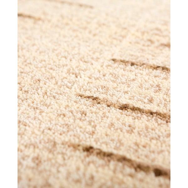 Vlněný koberec Tattoo no. 108, 60x120 cm, béžový
