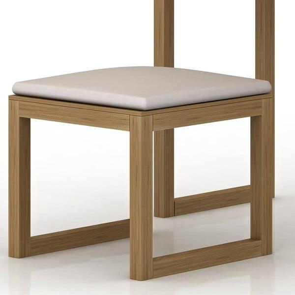 Stolička z dubového dřeva k toaletnímu stolku Fornestas Sims