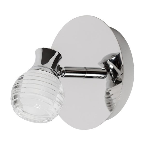 Nástěnné svítidlo ve stříbrné barvě s LED světlem SULION Minuit
