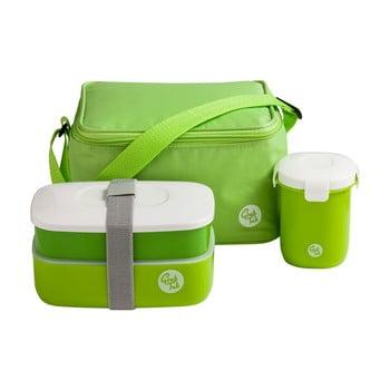 Set husă frigorifică, cutie pentru gustări, pahar Premier Housewares Grub Tub, 21 x 13 cm, verde de la Premier Housewares