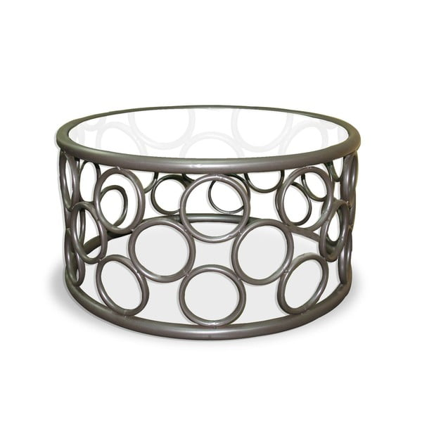 Kovový odkládací stolek Iron Circles