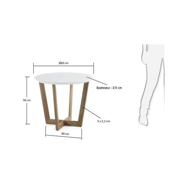 Bílý odkládací stolek La Forma Rondo