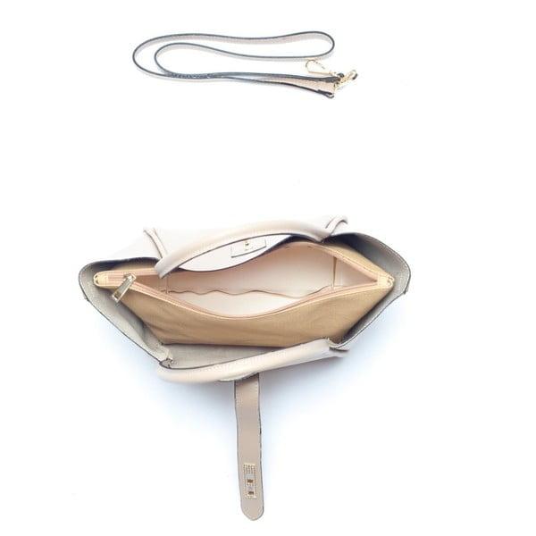 Krémová kožená kabelka Mangotti Walleriana