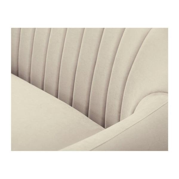 Canapea pe colț Scandi by Stella Cadente Maison Comete, pe partea stângă, bej