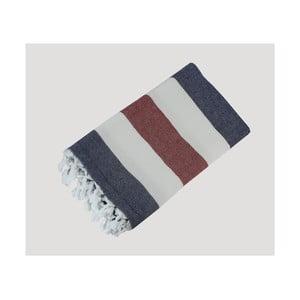 Pruhovaná ručně tkaná osuška z prémiové bavlny Homemania Turkish Hammam, 90 x 180 cm