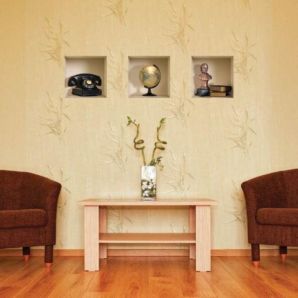 3D samolepky na zeď Nisha Classiques, 3 ks