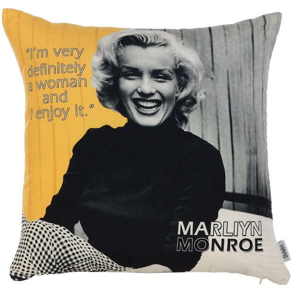 Faţă de pernă Apolena Marilyn Quote, 43 x 43 cm