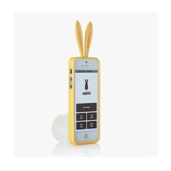 Rabito obal na iPhone 5 Bling Bling, žlutý