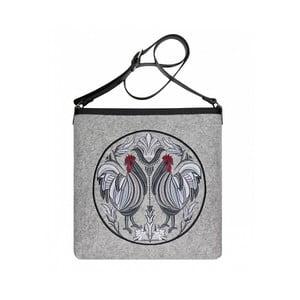 Plstěná vyšívaná taška Goshico New Folk Kohoutí s nastavitelným popruhem