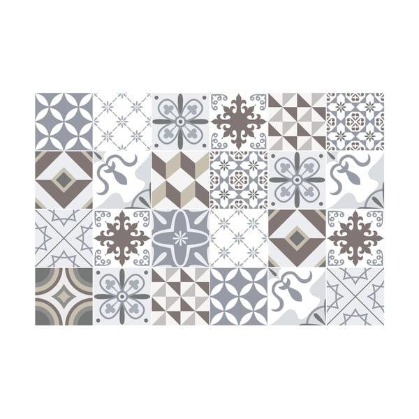 Zestaw 24 naklejek Ambiance Mosaic Portugal, 20x20 cm
