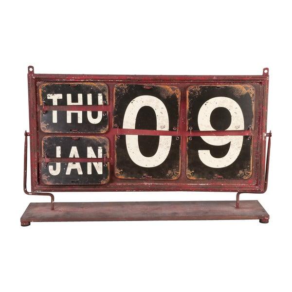 Červený kalendář Clayre & Eef