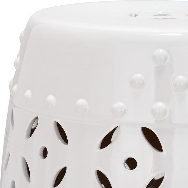 Keramický stolek Cyprus, bílý