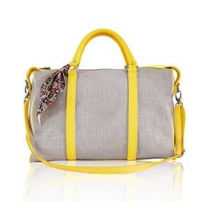 Kožená kabelka Iris Big, žlutá