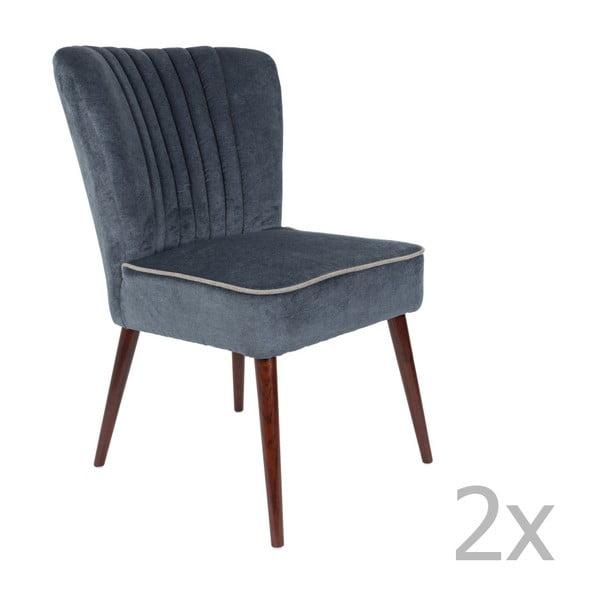 Pinzon 2 részes sötétszürke szék szett - Dutchbone