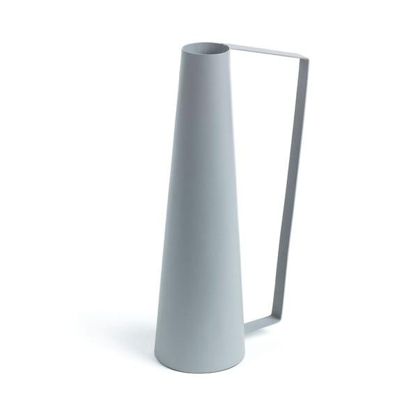 Sivá váza La Forma, výška 14 cm